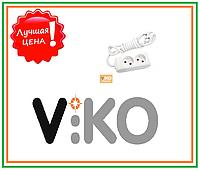 Удлинитель без заземления на 2 гнезда - 2 м кабель VIKO