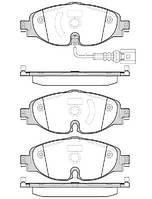 Колодка торм. SKODA OCTAVIA 2012-,VW GOLF VII 2012-,AUDI A3 передн. (пр-во REMSA) 1515.01