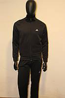 Мужской черный спортивный костюм  эластик адидас, фото 1