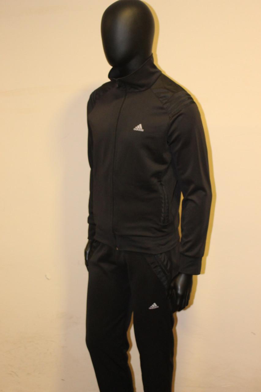 0e392d31 Мужской черный спортивный костюм эластик адидас, цена 650 грн., купить в  Хмельницком — Prom.ua (ID#254992510)