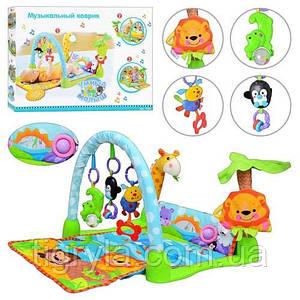 """Игровой развивающий коврик для малышей """"Умный малыш"""" с музыкальными игрушками"""