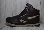 Кроссовки высокие зимние Reebok Classic коричневые, фото 4