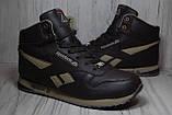 Кроссовки высокие зимние Reebok Classic коричневые, фото 5