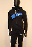 Купить синий трикотажный спортивный костюм adidas, фото 1
