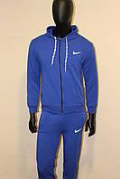 Синий спортивный костюм Найк трикотаж с капюшоном, фото 1
