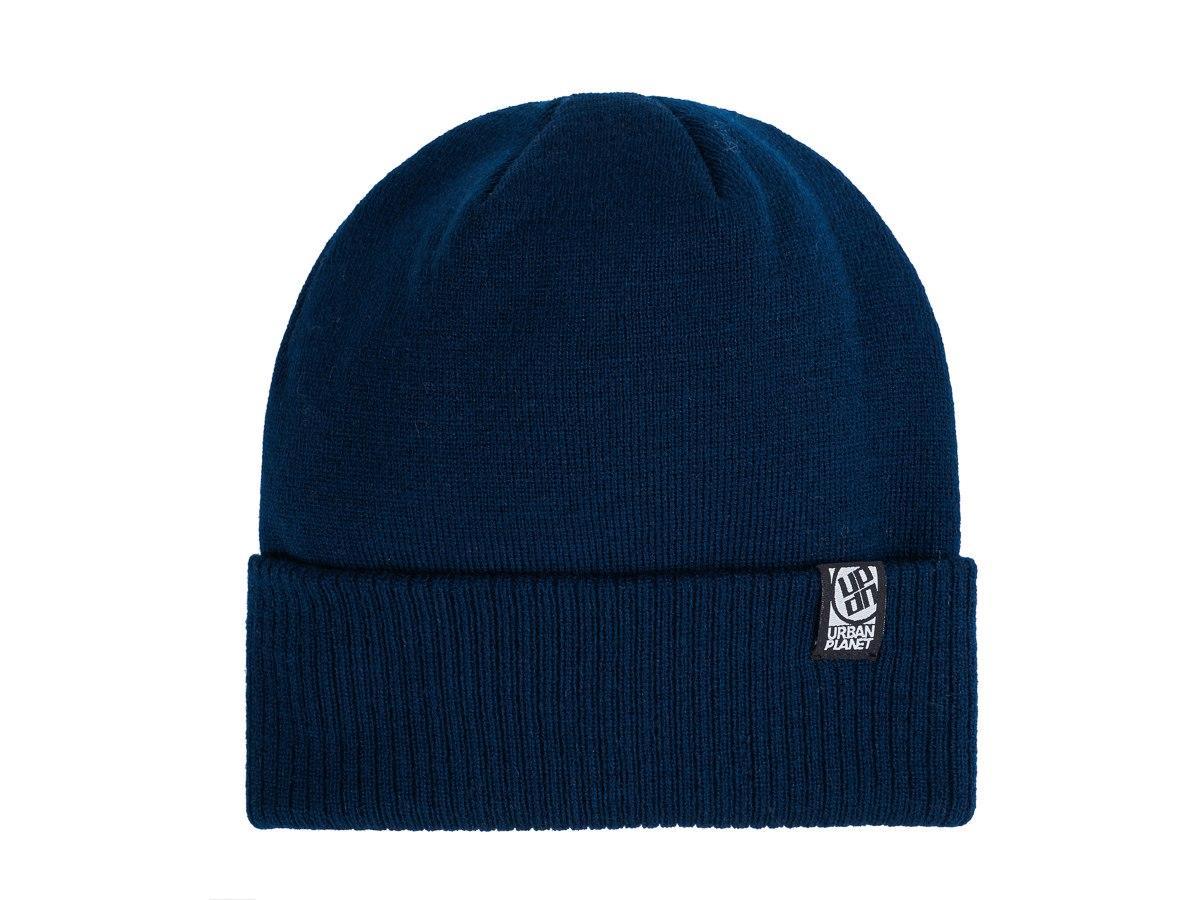 Шапка зимняя двойная Urban Planet C21 NVY (теплая шапка, шапка мужская