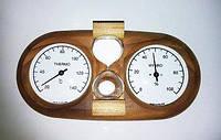 Термогігрометр струнний + пісочний годинник (15 хв) термобереза для лазні та сауни