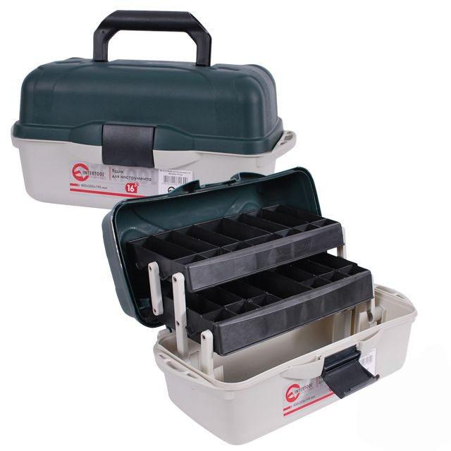 """Ящик для инструментов 16"""", 400x205x190 мм, INTERTOOL (BX-6116)"""