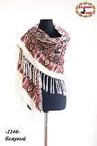 Павлопосадский шерстяной платок Цветущая весна, фото 3