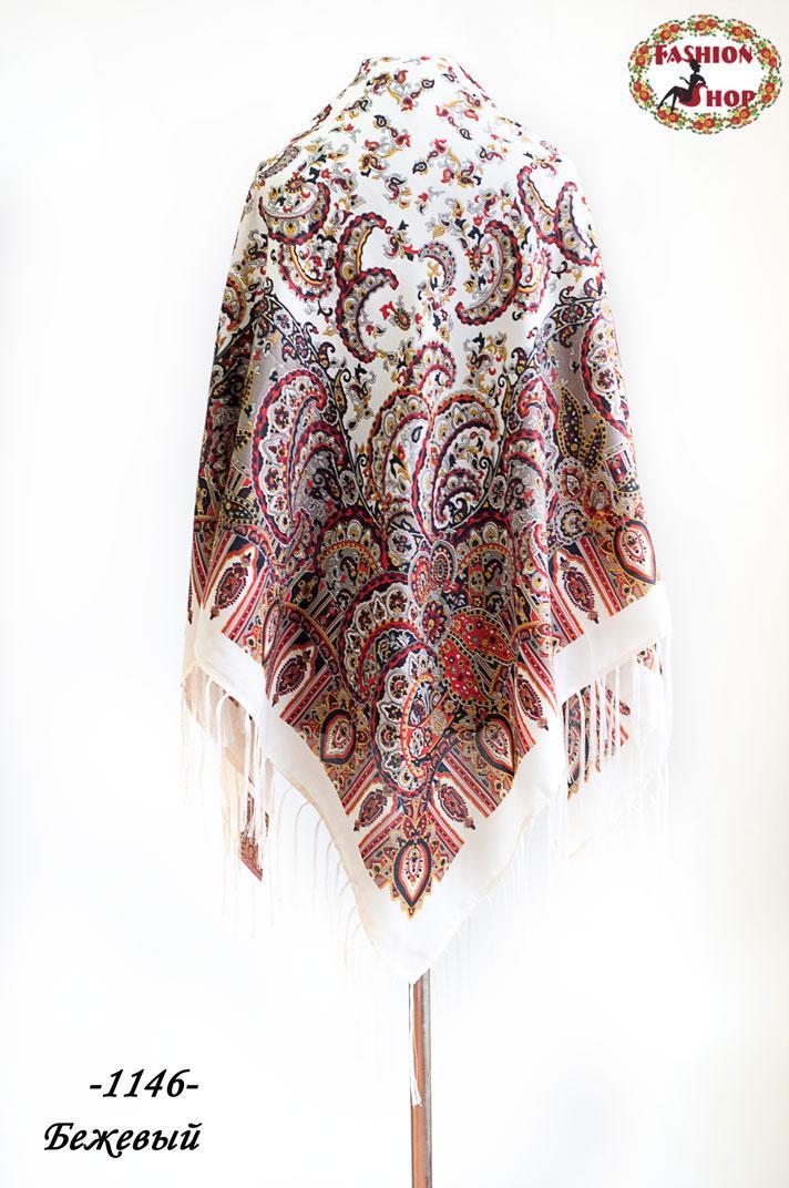 Павлопосадский шерстяной платок Цветущая весна