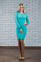 Трикотажное  платье яркие цвета