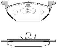 Колодка торм. SEAT LEON; SKODA OCTAVIA 96-;VW BORA 99-,GOLF 97- передн. (пр-во REMSA) 0633.00