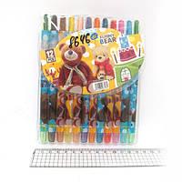 """Мелки восковые Crayons """"Медвежонок"""", набор 12 цв. PVC"""