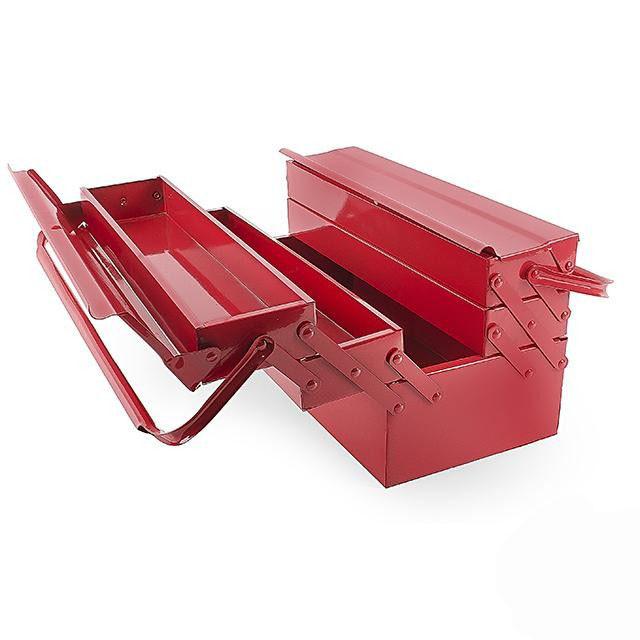 Ящик для инструментов металлический 450 мм, 5 секций, INTERTOOL (HT-5045)