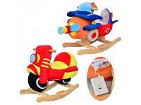 Детская качалка самолет и мотоцикл