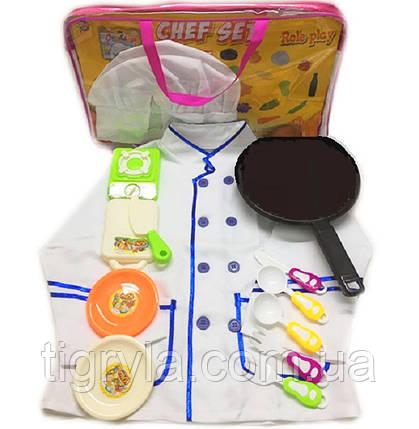 """Детский игровой набор """"Повар"""" - поварской китель, колпак, плита, посуда, костюм повара, игровая кухня детская, фото 2"""