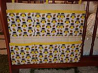 Карманы на детскую кроватку (совы), фото 1