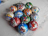 Красивые новогодние шары на елку 10см, фото 1
