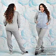 Теплый спортивный костюм женский с начесом большого размера в интернет-магазине Украина ( р. 52-62 )