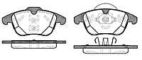 Колодка торм. FORD GALAXY 06-,MONDEO IV 07-,S-MAX 06-;VOLVO S60 10- передн. (пр-во REMSA) 1482.00