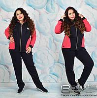 Теплый спортивный костюм женский на флисе большого размера в интернет-магазине Украина ( р. 52-58 )