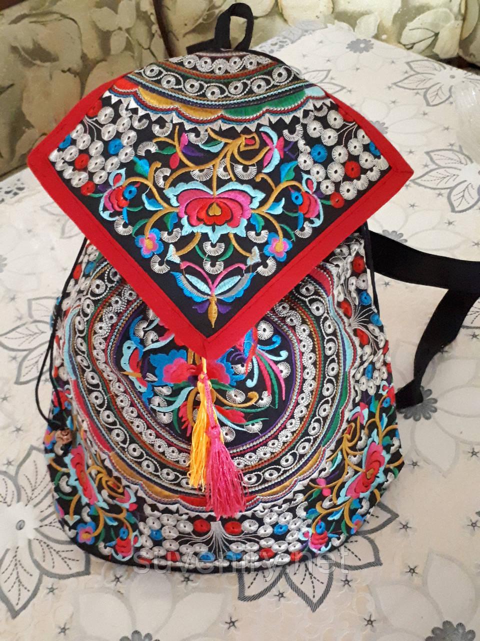 Ексклюзивный большой рюкзак в карпатском стиле разные виды