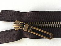 Застежка молния RIRI TOP6E метал полированная зубья бронза 65 см брелок Golf тесьма темно-коричн. разъемная