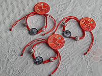 Браслет красная нить из знаком Инь Янь Хит сезона, фото 1
