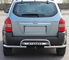 Защита заднего бампера на Hyundai Tucson (2004-2014)