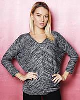 Стильная женская блузка (цвет темно-серый) / Модный женский блузон