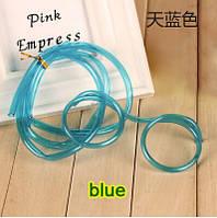 Забавная и веселая трубочка - очки для напитков, голубая
