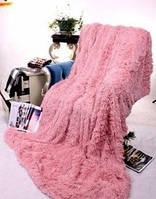 Меховое плед-покрывало Coloko розовый