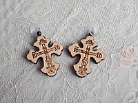 Православный деревянный крест в машину на присоске