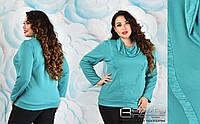 Блуза трикотажная большого размера недорого в интернет-магазине Украина ( р. 50-56 )