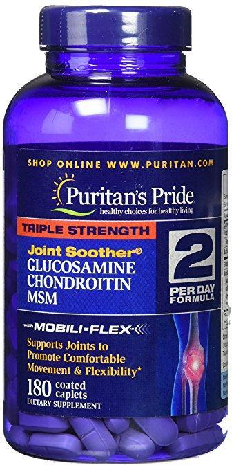Puritan's Pride Glucosamine Chondroitin MSM Triple Strength 180 caps