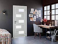 Verona  Двери межкомнатные RODOS c ПВХ покрытием стекло сатин