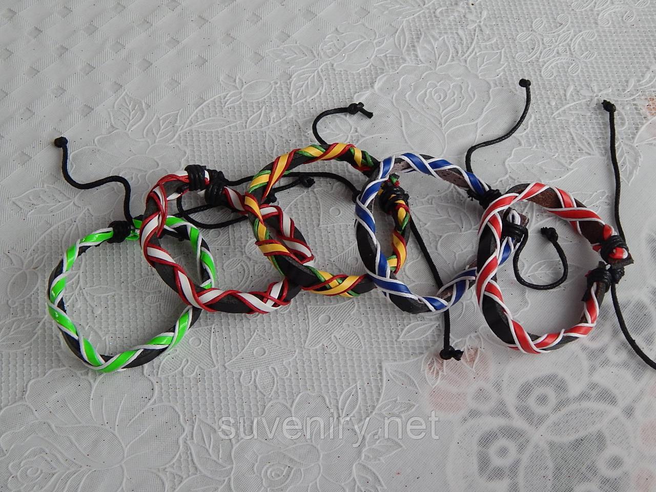Модные кожаные браслеты на руку