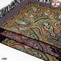 Серый павлопосадский платок Княжий, фото 3