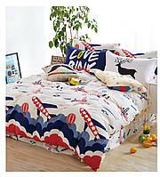 Комплект постельного белья сатин belle villa полуторный размер 0045