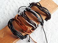 Кожаные браслеты на руку разные виды, фото 1