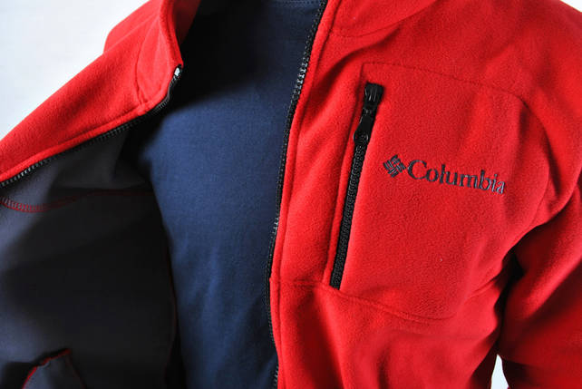 Флисовая кофта В стиле Columbia / кофта Коламбия красная, фото 2