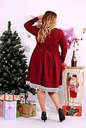 Женское нарядное платье бордового цвета 0658 / размер 42-74 , фото 4