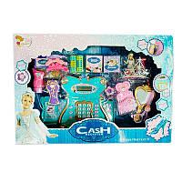 Игровой набор касса Frozen 35566: калькулятор, сканер, микрофон, аксессуары + звук/свет