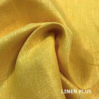 Желтая льняная ткань , цвет 1363