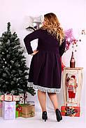 Женское нарядное платье баклажанового цвета 0658 / размер 42-74 , фото 4