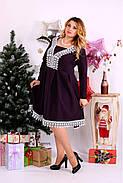 Женское нарядное платье баклажанового цвета 0658 / размер 42-74 , фото 3