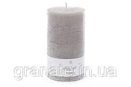 Свеча- цилиндр 15х8 см, время горения 75 часов, цвет - серый