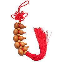 Подвеска тыква-горлянка 34 см красная (B4851)