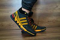 Подростковые зимние кроссовки Adidas Черный\Желтый 10454