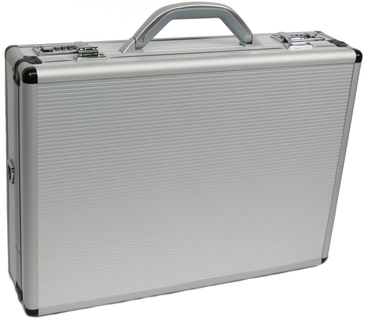 Алюминиевый кейс/дипломат для документов кодовый замок SAFE D-73703